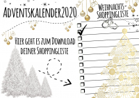 Weihnachts-Shopping-Liste